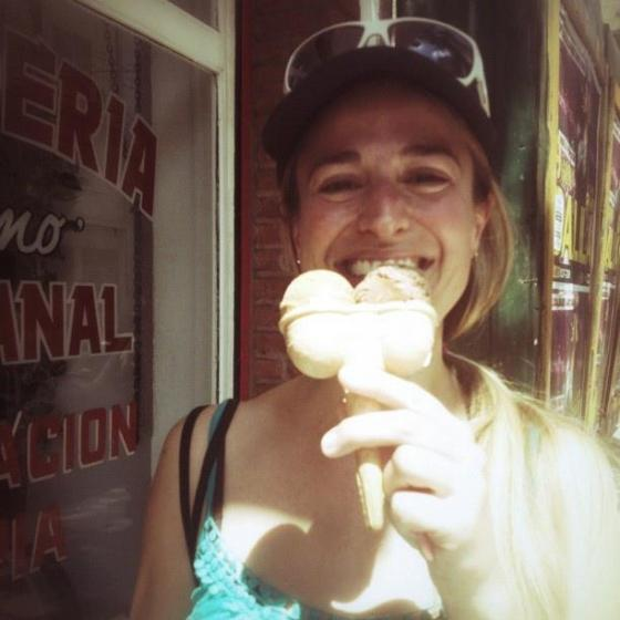 Me, eating ice-cream in Argentina.